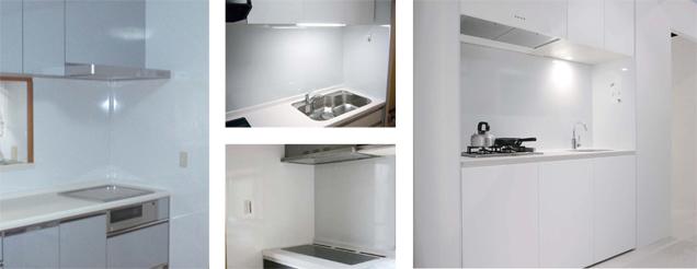 ホーローキッチンパネル:パネルとジョイナーの色合わせについて
